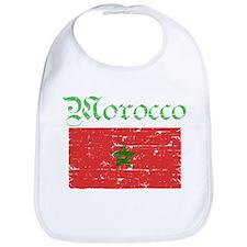 Moroccan grunge flag Bib