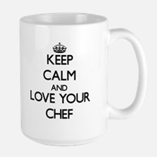 Keep Calm and Love your Chef Mugs