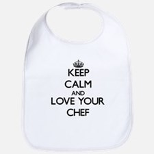 Keep Calm and Love your Chef Bib