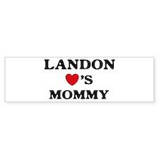 Landon loves mommy Bumper Bumper Sticker