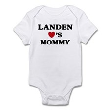 Landen loves mommy Infant Bodysuit
