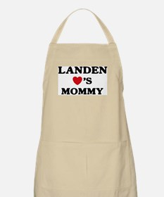 Landen loves mommy BBQ Apron