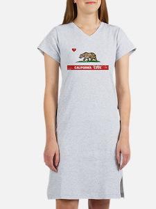 California Love Flag Distressed Women's Nightshirt