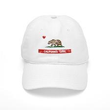 California Love Flag Distressed Baseball Baseball Cap