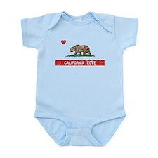 California Love Flag Distressed Body Suit