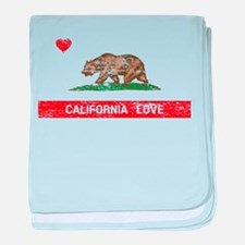 California Love Flag Distressed baby blanket