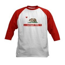 California Love Flag Distressed Baseball Jersey