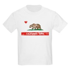 California Love Flag Distressed T-Shirt