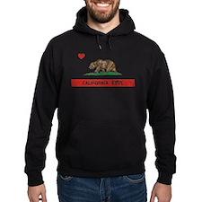 California Love Flag Distressed Hoody