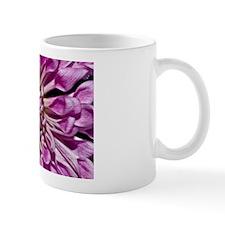 Purple Dahlia Flower Mugs