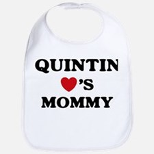 Quintin loves mommy Bib
