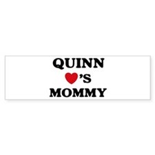 Quinn loves mommy Bumper Bumper Sticker