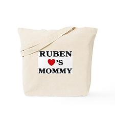 Ruben loves mommy Tote Bag