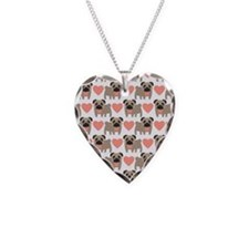 Pugs and Hearts Necklace