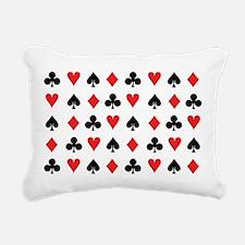 Card Suits Rectangular Canvas Pillow