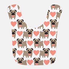 Pugs and Hearts Bib