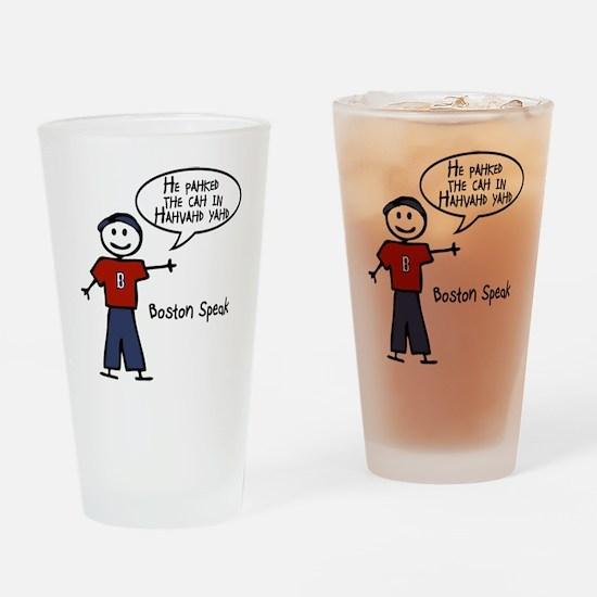 Boston Speak Drinking Glass