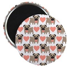 Pugs and Hearts Magnets