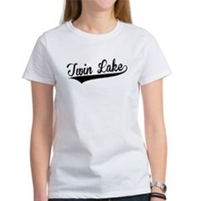 Twin Lake, Retro, T-Shirt
