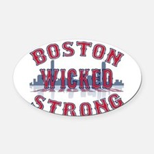Boston Wicked Strong Oval Car Magnet