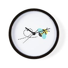 Cute Bumble Bee, Heart Trail Wall Clock