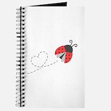 Cute Flying Ladybug, Heart Trail Journal