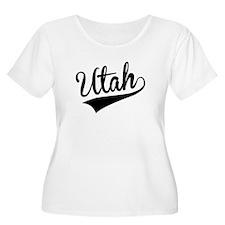 Utah, Retro, Plus Size T-Shirt