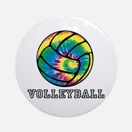 Tie Dyed Volleyball Ornament (Round)