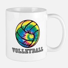 Tie Dyed Volleyball Mugs