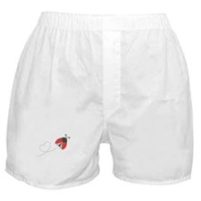 Cute Flying Ladybug, Heart Trail Boxer Shorts