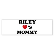 Riley loves mommy Bumper Bumper Sticker