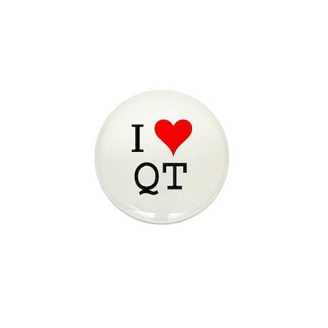 I Love QT Mini Button (10 pack)