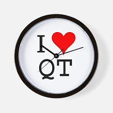 I Love QT Wall Clock