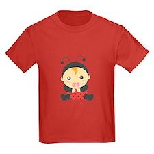 Cute Baby Girl in Ladybug Costume T-Shirt