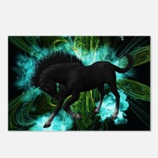 Beautiful horse with green clouds Postcards (Packa