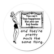 Funny Book Round Car Magnet