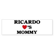 Ricardo loves mommy Bumper Bumper Bumper Sticker