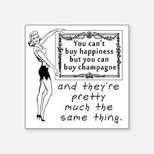 "Cute Champagne Square Sticker 3"" x 3"""