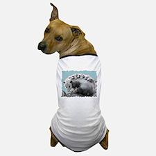 Possom Family on a Log Dog T-Shirt