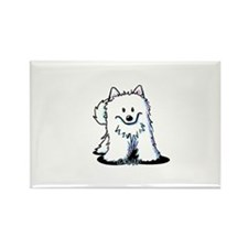 Japanese Spitz Rectangle Magnet