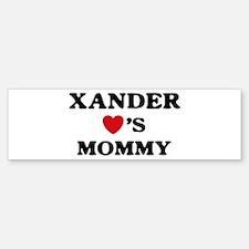 Xander loves mommy Bumper Bumper Bumper Sticker