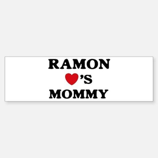 Ramon loves mommy Bumper Bumper Bumper Sticker