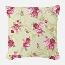 Madame Butterfly Woven Throw Pillow