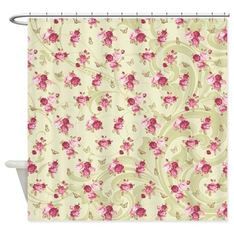 madame butterfly shower curtain by briarrose