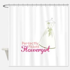 perfectly Picked Flowergirl Shower Curtain