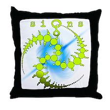 Starburst Spiral Crop Circle Lime Throw Pillow