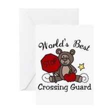 Worlds Best Crossing Guard Greeting Cards
