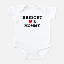 Bridget loves mommy Infant Bodysuit