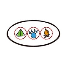 Camping Symbols Patches