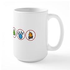 Camping Symbols Mugs
